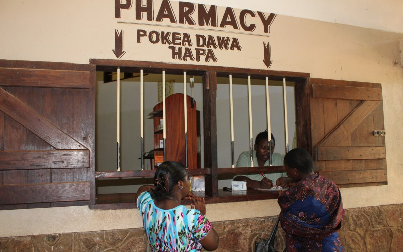 The pharmacy at Mbesa Mission Hospital Die Krankenhaus Apotheke im Mbesa Missions Hospital