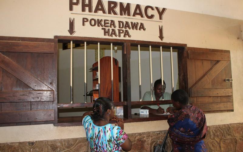 The pharmacy at Mbesa Mission Hospital Die Krankenhaus Apotheke im Mbesa Missions Hospital